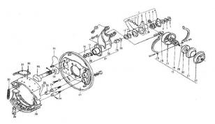 Механизм тормозной передний