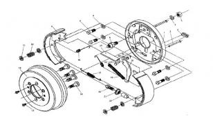 Механизм тормоза стояночного