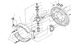 Механизм тормозной задний