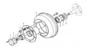 Ступица колеса переднего