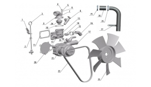 Насос водяной, вентилятор, термостат